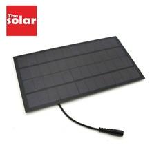 Pannello solare 12V 7W con 5.5*2.1 DC Connettore Per Il Solare Pompa Ad Acqua Solare Sistema di Alimentazione caricatore Del Telefono cellulare FAI DA TE Giocattolo