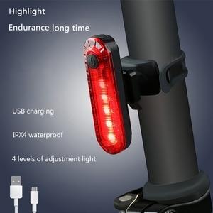 Велосипедный задний светильник, водонепроницаемый, для езды, задний светильник, светодиодный, Usb, заряжаемый, горный велосипед, велосипедны...