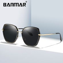BANMAR Retro Sun glasses Polarized Luxury Ladies Brand Designer Women Sunglasses Eyewear oculos de sol feminino