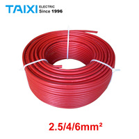 100 meters/roll Single Core Solar Cable 2.5/4/6mm² Electric Wire Photovoltaic Cable