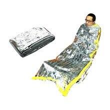 Emergency-Sleeping-Foil-Bag Survival Outdoor Waterproof Camping-Reusue 1m-X-2m
