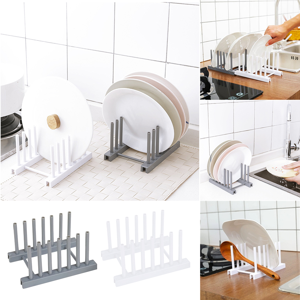 Kitchen Sink Drain Rack Storage Organizer Dish Drying Rack Holder Shelf Drainer Plastic Plate Cups Stand Display Holder