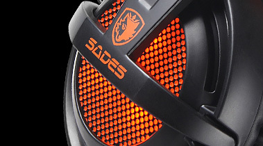 SADES A6 USB 7.1 Stereo wired gaming headphones game headset over ear with mic Voice control for laptop computer gamer 4
