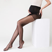2020 Pregnant Women Sexy Stockings Thin Pantyhose Solid High Waist Breathable Elastic Tights Oversized Bottom Socks Plus Size(China)