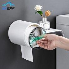 Paper-Holder Storage-Box Toilet Bathroom-Accessories Plastic Multifunctional Waterproof