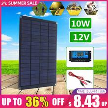 10W 12V Panel słoneczny z zacisk baterii + 10 20 30 50A kontroler ładowarki słonecznej na zewnątrz Camping piesze wycieczki wodoodporne ogniwa słoneczne tanie tanio KINCO 23cmx17cm 9 0x6 6 inch solar panel Monokryształów krzemu