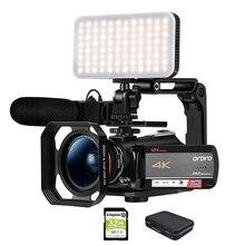 Video Camera Camcorder 4k Ordro ac5 12x Optical zoom Filmado