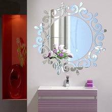 24 шт Акриловые 3D зеркальные настенные наклейки, настенные украшения для дома и ванной комнаты