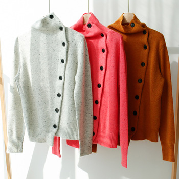 Women's sweater 100% cashmere sweater female turtleneck pullover sweater long-sleeved sweater female red warm sweater female sweater