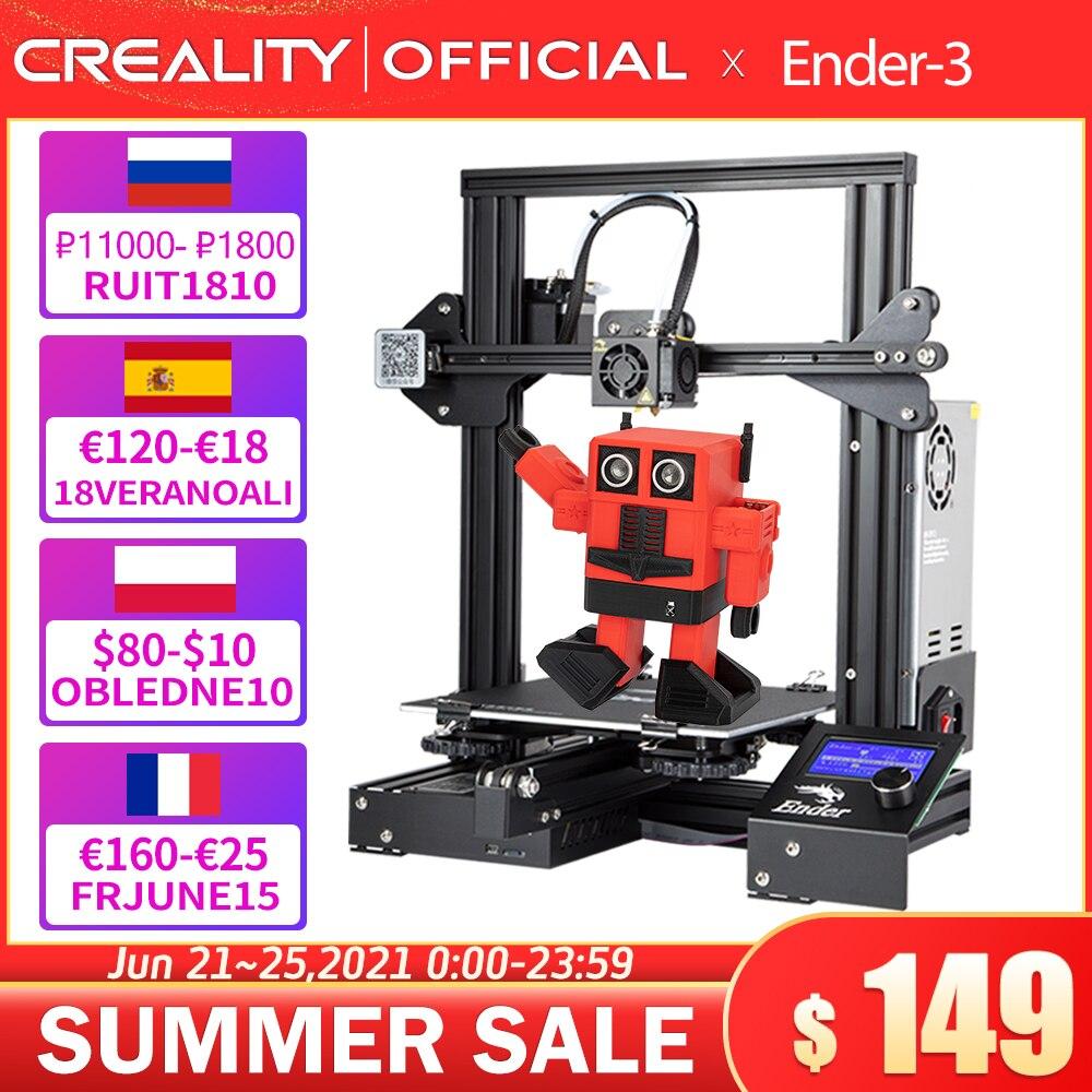 3D-принтер CREALITY 3D Printer Ender-3/Ender-3X, улучшенное закаленное стекло, V-слот, функция возобновления печати после сбоя питания