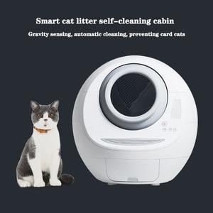Bac à litière fermée auto-nettoyante automatique | Grand pot de nettoyage intelligent, fournitures pour animaux domestiques