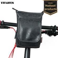 Сумка на руль велосипеда передняя устанавливаемая кожаный подвесной