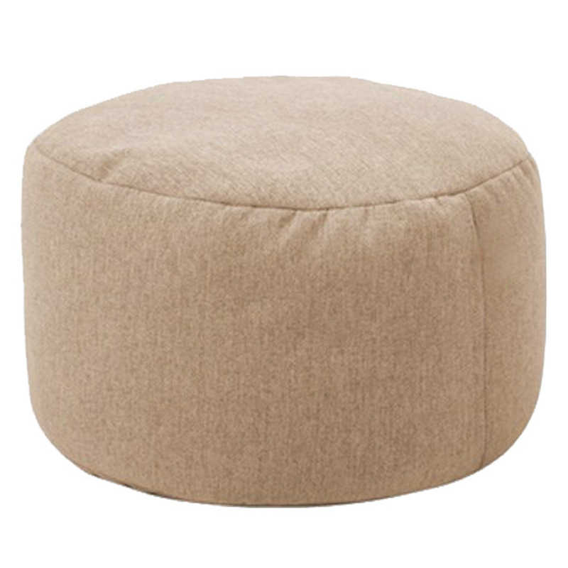 Solid Cotton Hemp Small Round Lazy Bean Bag Sofa Cover Footrest Stool Ottoman Pouf Kids Stuffed Toy Storage Bag Without Filler