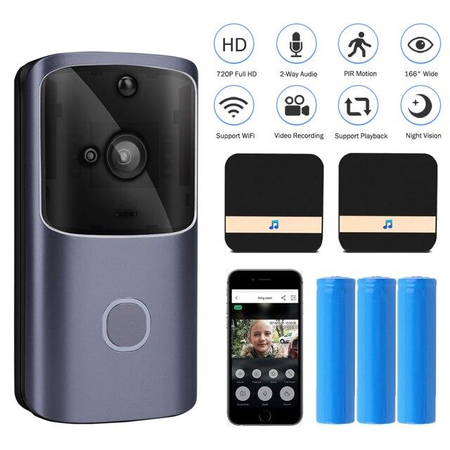 WIFI Türklingel Smart Home Drahtlose Telefon Tür Glocke Kamera Sicherheit Video Intercom 720P HD IR Nachtsicht Für Wohnungen