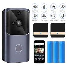 Wi fi campainha da porta do telefone de casa inteligente sem fio campainha câmera segurança vídeo porteiro 720p hd ir visão noturna para apartamentos