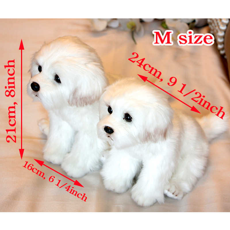 2 Pieces Cute Bichon Frise Puppy Stuffed Dog Plush Toy Simulation Pet Fluffy Baby Kids Doll Birthday Gift For Children Drop Ship Aliexpress