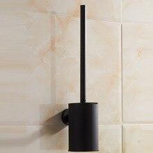Vidric 304 paslanmaz çelik banyo tuvalet fırçası tutucu siyah, duvara monte tuvalet fırçası seti otel kauçuk boya yaratıcı