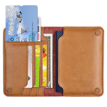 Prawdziwej skóry rosja okładka na paszport Slot kart portfel bilety lotnicze okładki na paszport pełna skóra licowa paszport prezent dla niego tanie i dobre opinie sumgo-031