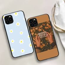 Cute Summer Daisy Sunflower Floral Flower Phone Case For iphone 5s 6 7 8 11 12 plus xsmax xr pro mini se Cover Fundas Coque