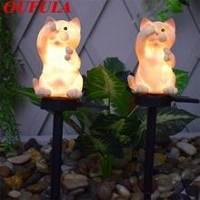 Oufula Солнечный газонный светильник водонепроницаемый открытый