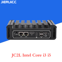 Core i3 7100u i5 7200u JC2L Fanless מיני מחשב עם 2 * RTL 8111E 10 M/100 M/ 1000M Lan 2 COM נמל, m.2 SSD lan nano itx מחשב שולחני