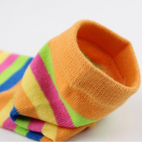Five-fingered Socks Women Funny Stripe Tow Socks Autumn Casual Soft Socks With Toes For Ladies Multan