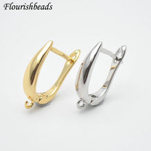 Nickle Free antykorozyjne prawdziwe złoto poszycia metalowy kolczyk haki kobiety tworzenia biżuterii komponenty 30 sztuk