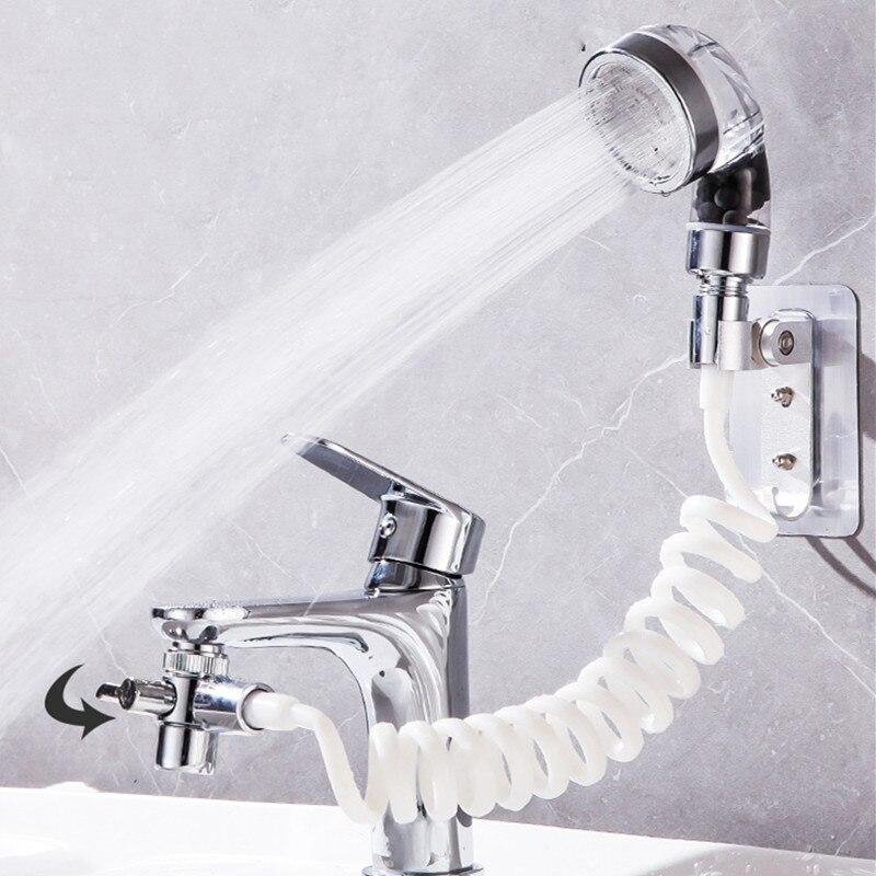 Faucet External Shower Set Hand Toilet Faucet Filter Flexible Suit Wash Hair House Kitchen Sink Faucet Water Saving