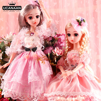 UCanaan BJD Doll,1/4 SD Dolls 18inch 18 Ball Jointed Dolls with Clothes Outfit Shoes Wig Hair Makeup Best Gift for Girls 1 3 bjd girl doll high quality handmade dress with outfit shoes wig hat makeup 60cm bjd sd dolls silicone reborn bjd dolls toys