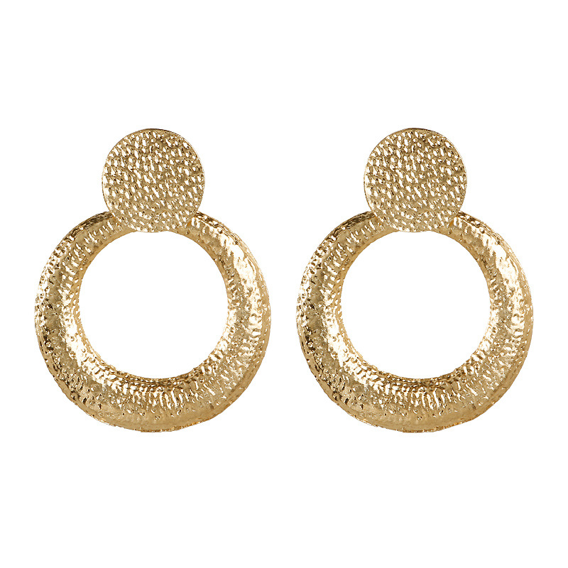 Mostyle 30 стилей модные большие винтажные золотые серебряные розовые золотые геометрические массивные металлические Висячие серьги для женщин - Окраска металла: 62942