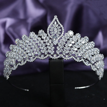 Vintage 5A Level Cubic Zirconia Wedding Bridal Tall Tiaras and Crowns CZ Quinceanera Headpieces Pageant Hair Jewelry Accessories micro paved zircon crown full cubic zirconia tiara cz tiaras vintage bridal diadem wedding hair accessories coroa noiva wigo1172