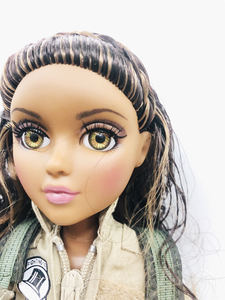 Image 3 - new 36cm Original Girls MGAdoll 3D big Violet brown eyed girl Princess Dolls 11 joints Princess doll toy Dol Christmas Gift