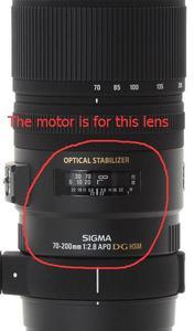 Image 5 - Peça da unidade da anti agitação vr do grupo da estabilização da imagem da lente de 70 200 2.8 os de segunda mão para sigma 70 200mm f2.8 apo ex dg os hsm