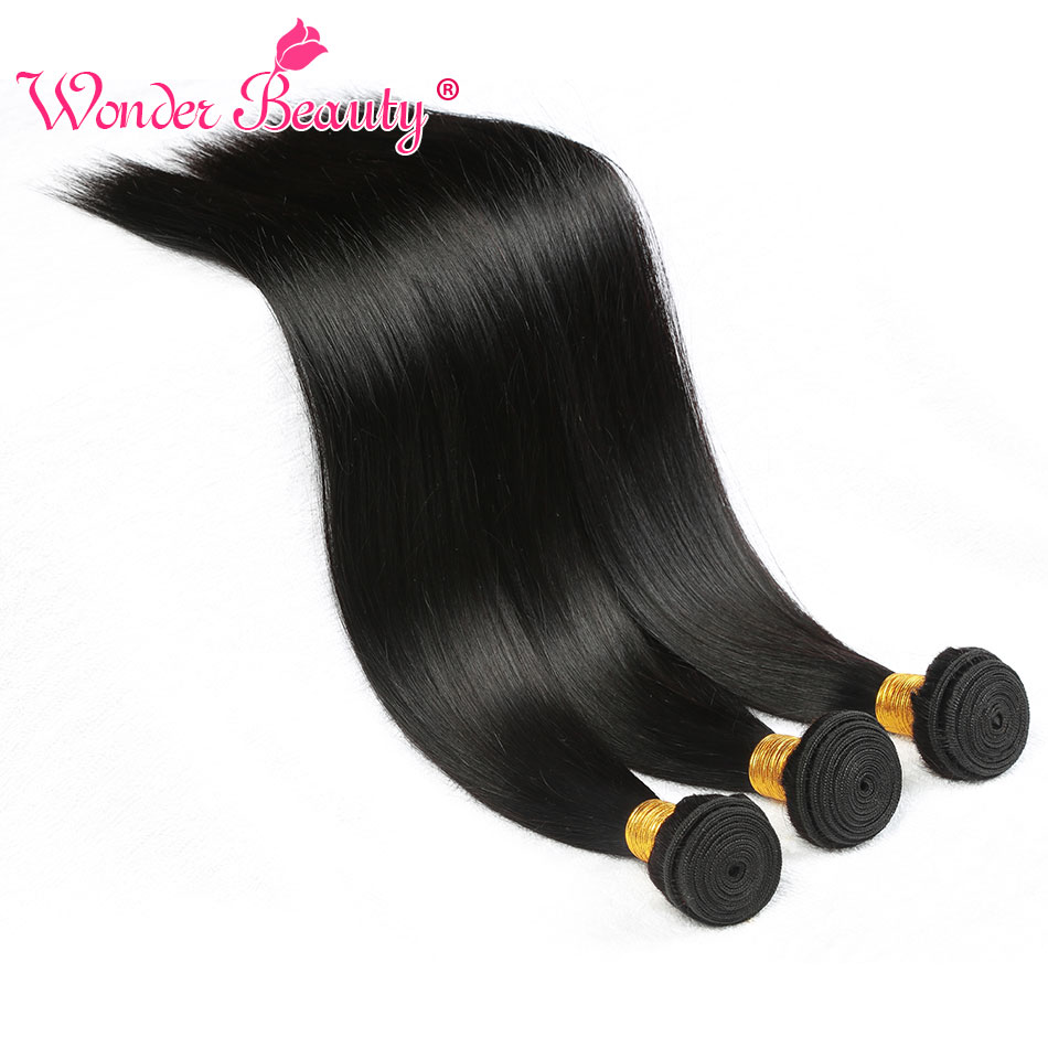 Image 5 - Straight Hair Malaysian Hair Bundles Wonder Beauty Hair Human Hair Bundles Remy Hair Extension Can Buy 3 Or 4Pcs Natural Black-in Hair Weaves from Hair Extensions & Wigs