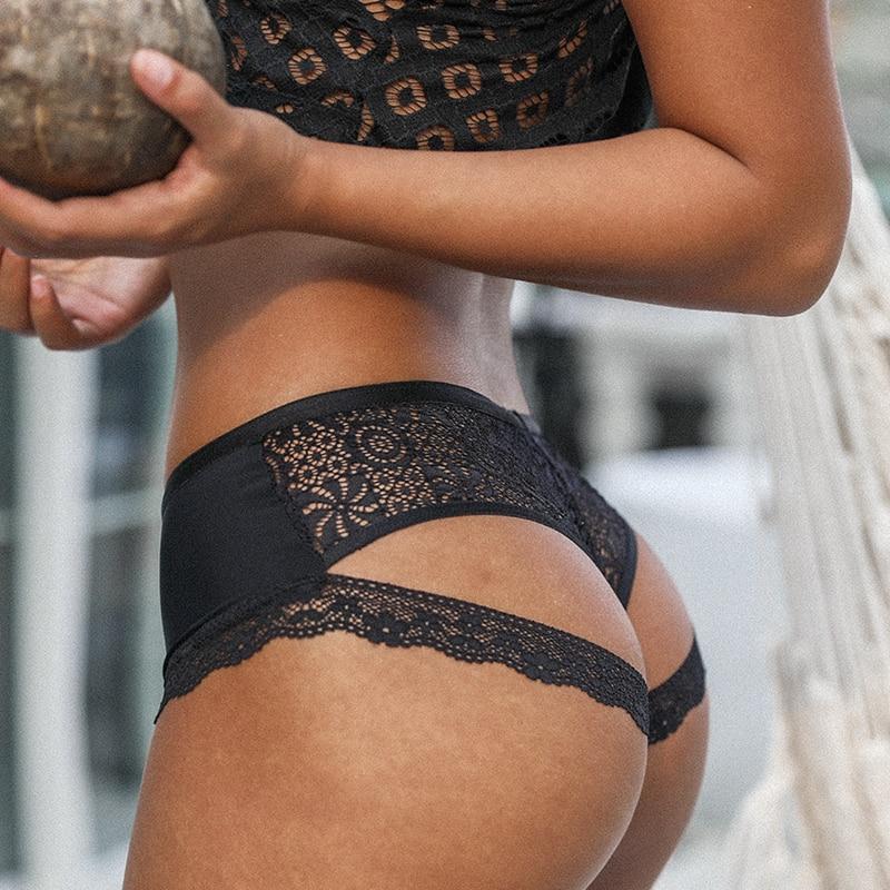 SP & CITY Соблазнительные кружевные женские трусики с открытой спиной, тонкое сексуальное нижнее белье с цветочным рисунком, прозрачные трусы, бесшовное нижнее белье, стринги женские трусики      АлиЭкспресс