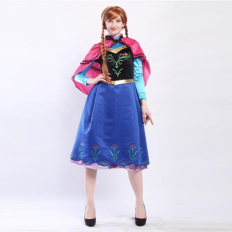 Vestido cosplay adulto anna elsa aladdin, vestido