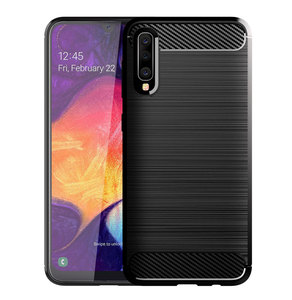 Image 2 - Carbon Soft Silicone Phone Case For Samsung Galaxy A50 A10 A20 A30 A40 A70 M20 M30 M40 Fiber Cover Bumper GalaxyA50 Galaxi 2019