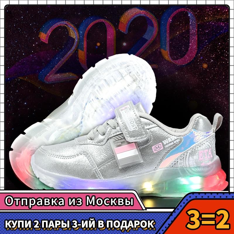 MMnun 2020 Children Shoes Luminous Glowing Sneakers Kids Sneakers For Girls Sneakers For Boys Size 26-31 ML6310