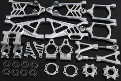 HPI Baja 5B Front Rear Upper Lower Suspension Arm with C Hub Carrier and Steering Cup Connector Kit