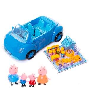 Image 5 - Świnka Peppa George zabawki czerwony samochód zestaw figurka figurki Anime zabawki dla dzieci zabawka z kreskówki dla dzieci świnka Peppa prezent urodzinowy
