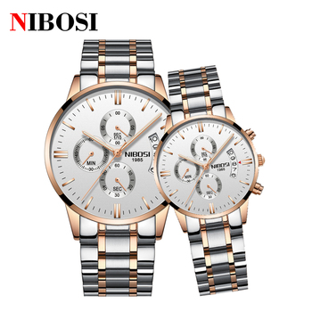 NIBOSI Luxury Couple Watches for Lovers Quartz Wristwatch Fashion Casual Men Watch for Women Watches Lover Gifts Pair Hour image