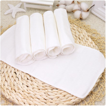 5pcs Baby Nappy Liners Reusable Washable 8 Layers Thickened Cotton Gauze Diapers Newborn Diapering Accessories