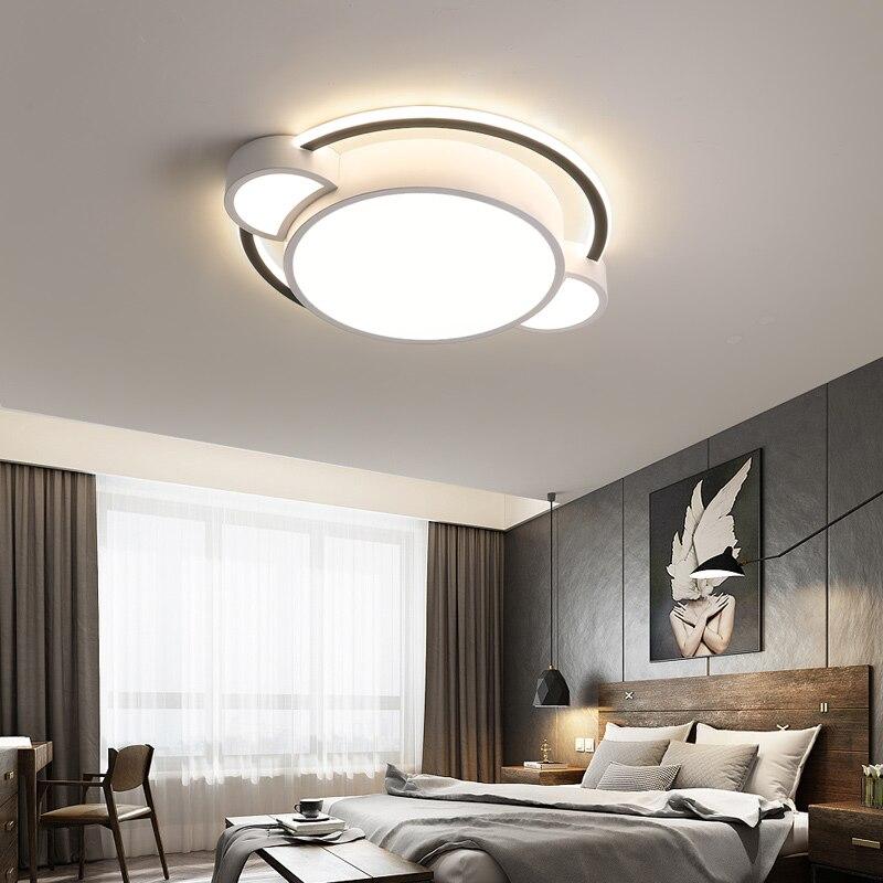 Купить белая/черная оправа светодиодный потолочный светильник для спальня