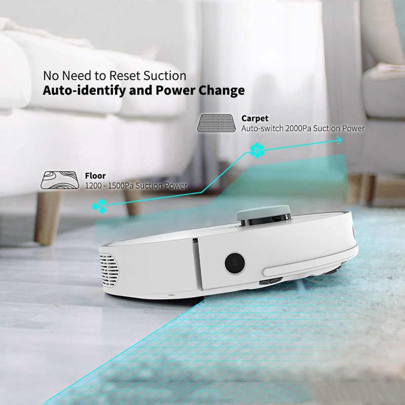 360 S5 جهاز آلي لتنظيف الأتربة 2000Pa الليزر والملاحة يدار مكانس كهربائية للكنس الذكية منظفات التلقائي تغذى Aspirador للمنزل