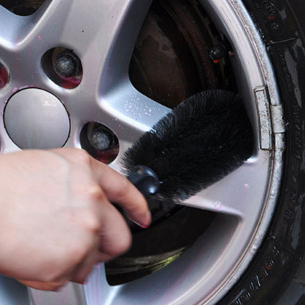 <font><b>Car</b></font> Vehicle Motorcycle <font><b>Wheel</b></font> Tire Rim Scrub <font><b>Brush</b></font> Washing Cleaning Tool <font><b>Cleaner</b></font> Good Elasticity Black <font><b>Brush</b></font> <font><b>Car</b></font>-Styling image