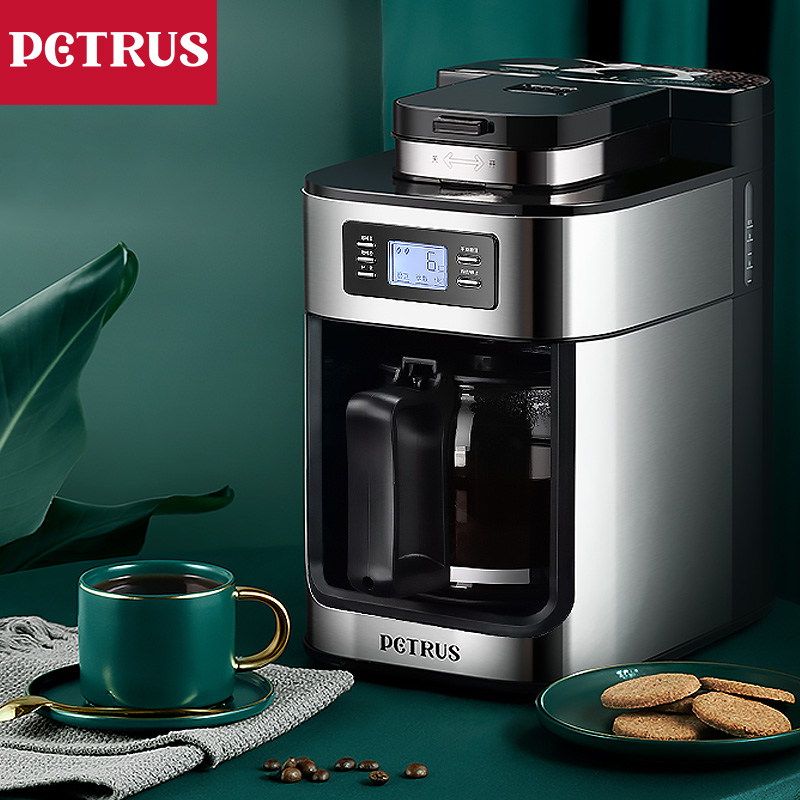 Electric Coffee Maker Household Small Automatic American Coffee Machine All-in-one Freshly Brewed Coffee Maker Grinding Machine