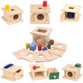 Монтессори детские игрушки 6 - 12 месяцев 6 в 1, деревянные игры, развивающие игрушки, обучающие, дошкольные тренировки G588T