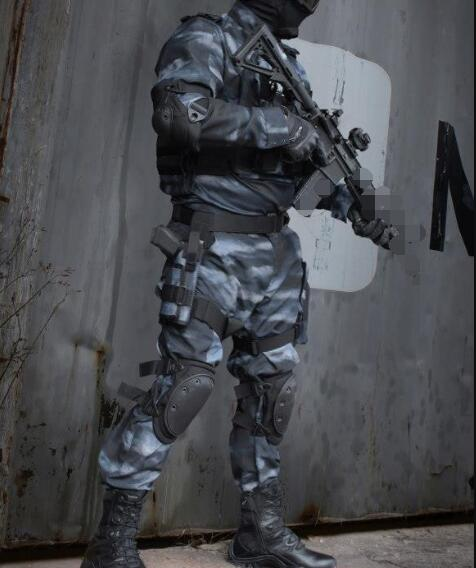 Russian Camouflage Night Military Uniform Black