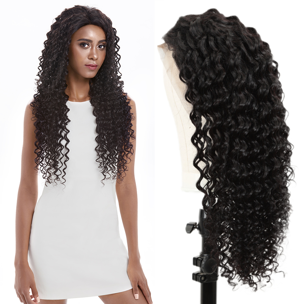 Joedir Lace Front Human Hair Wigs Pre Plucked 28 30 Inch Wig Short Lace Front Human Hair Wigs Brazilian Deep Wave Lace Front Wig