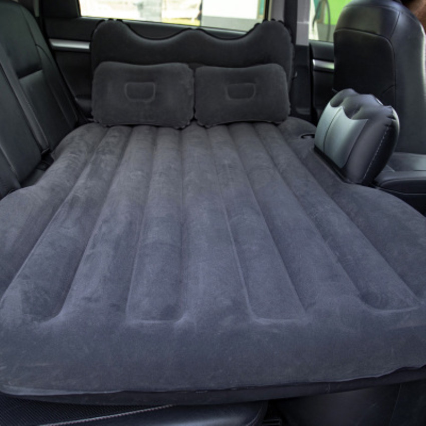 Pvc flocking suv multi-function car inflatable bed car supplies car travel bed car mattress car sleeping pad